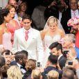 Raphaël Varane et Camille Tytgat se marient à la mairie du Touquet puis en l'église Sainte-Jeanne d'Arc le 20 juin 2015