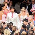 Raphaël Varane et Camille Tytgat se marient à la mairie du Touquet puis en l'église Sainte-Jeanne d'Arc le 20 juin 2015 - La Voix du Nord