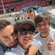 Les One Direction postent une photo d'eux en répétition au Stade Wembley à Londres début Juin 2015