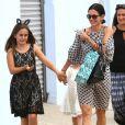 Exclusif - Courteney Cox et son ex mari David Arquette sont allés chercher leur fille Coco à l'école à Santa Monica, le 8 juin 2015