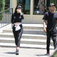 Kylie Jenner et Tyga quittent un restaurant à Calabasas, le 29 juin 2015.