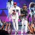 Chris Brown et Tyga aux BET Awards 2015 au Microsoft Theater à Los Angeles, le 28 juillet 2015.