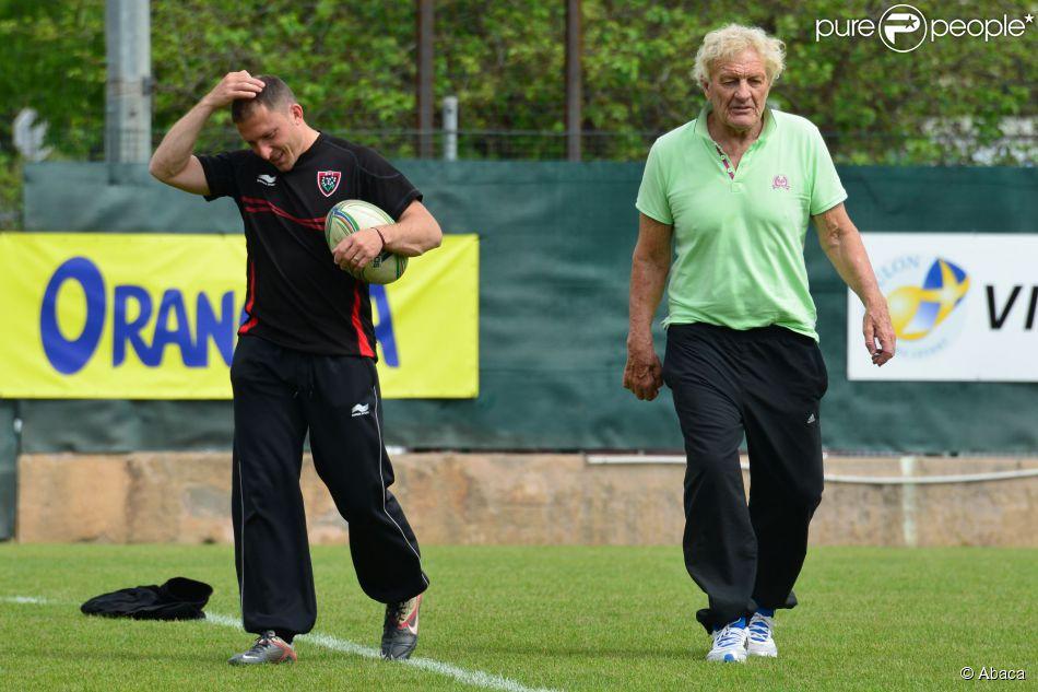 Tiburce Darou durant un entraînement de rugby à Toulon le 7 mai 2013.