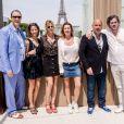 Exclusif - Virginie Coupérie-Eiffel, Coco Coupérie-Eiffel, Frédéric Anton et Christophe Bonnat lors du Paris Eiffel Jumping du Longines Global Champions Tour, le 5 juillet 2015 sur le Champs-de-Mars à Paris