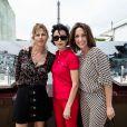 Exclusif - Virginie Coupérie-Eiffel, Rachida Dati et Virginie Guilhaume lors du Paris Eiffel Jumping du Longines Global Champions Tour, le 5 juillet 2015 sur le Champs-de-Mars à Paris