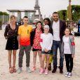 Le Paris Eiffel Jumping du Longines Global Champions Tour, le 5 juillet 2015 sur le Champs-de-Mars à Paris, avec Tony Parker, Grand Corps Malade, Marion Cotillard et bien d'autes, venus assister à la Kids Cup de l'association Sourire à la vie