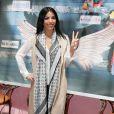 La belle Siham Bengoua - Dédicace des  Anges 7  au Barrio Latino à Paris, le 26 mai 2015.