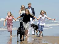 Maxima et Willem-Alexander des Pays-Bas : Shooting déjanté en famille à la plage