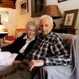 Exclusif - Diana Dill, la mère de Michael Douglas, avec son 3e mari Donald Webster, en  février 2014.
