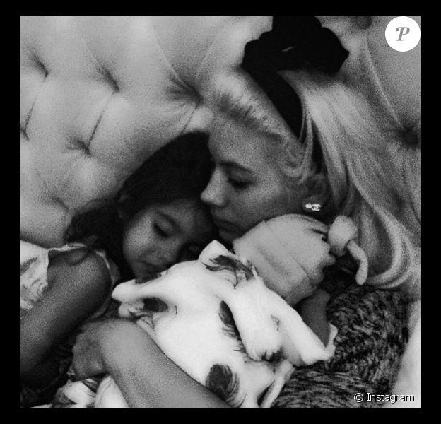 Shayne Lamas et sa fille Princess ainsi que son fils Lyon / juillet 2015