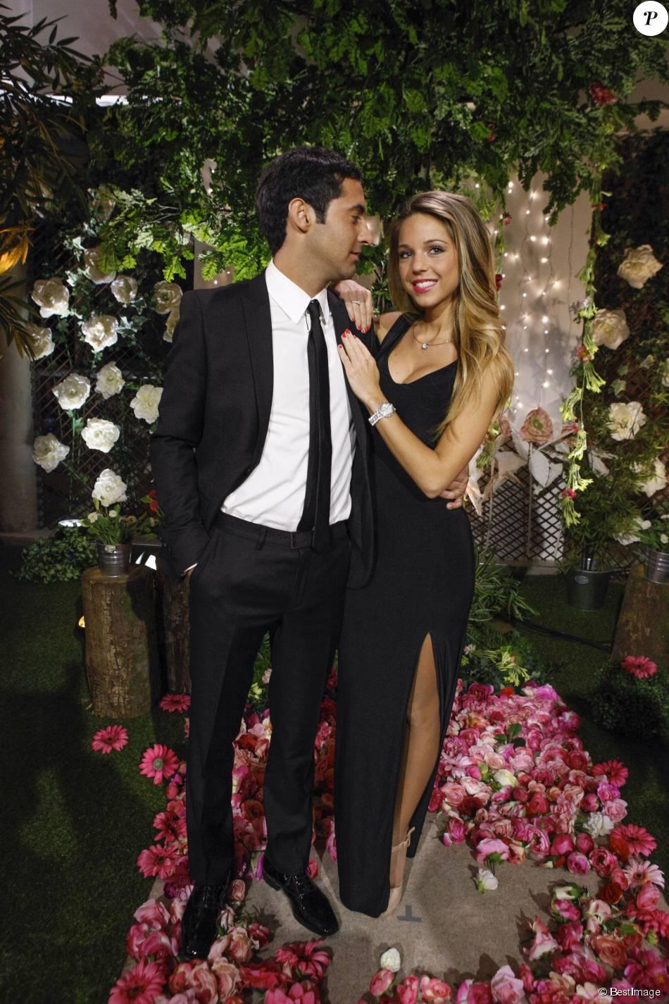 Exclusif - Alexandre et Maddy, lors de la cérémonie finale de l'émission  Qui veut épouser mon fils ?  saison 4 (tournage le 7 mars 2015, diffusion le vendredi 17 juillet 2015).