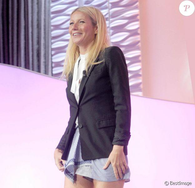 """Gwyneth Paltrow à la conférence de presse annuelle """"Women Bloggers"""" à New York, le 17 juillet 2015"""
