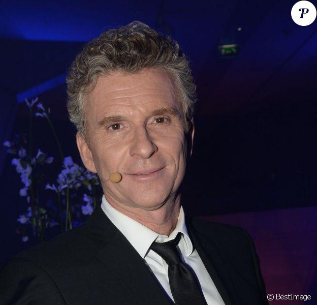 Exclusif - Denis Brogniart au dîner de Gala du Prix d'Amérique Opodo à la Maison de l'UNESCO à Paris le 24 janvier 2015.