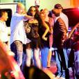Naomi Campbell quitte le VIP Room à Saint-Tropez, le 24 juillet 2015.