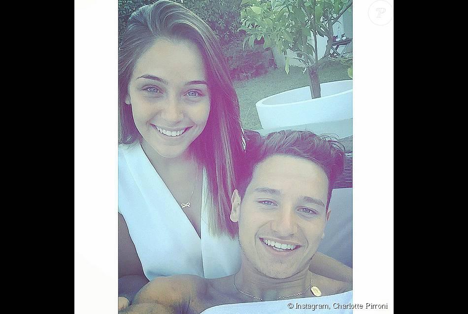Charlotte Pirroni et Florian Thauvin, photo publiée le 27 juillet 2015