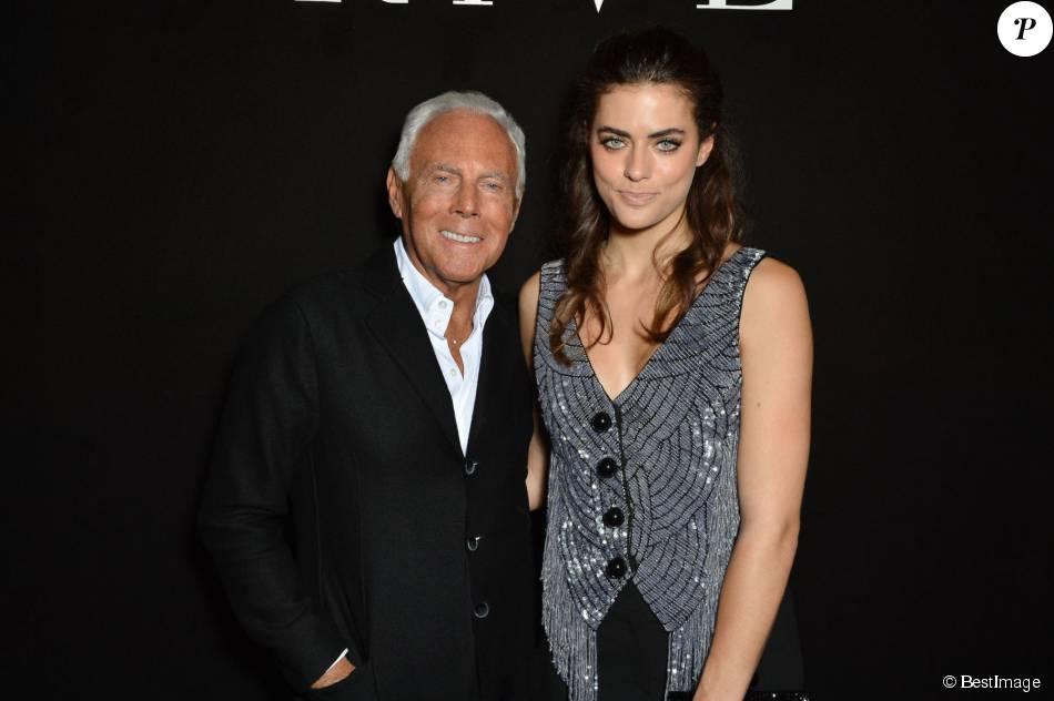 Alyson Le Borges, fille d'Anthony Delon, avec Giorgio ...