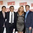 Jason Biggs, Eugene Levy, Jennifer Coolidge et Chris Klein lors de l'avant-première du film American Pie 4 le 26 mars 2012 à Paris