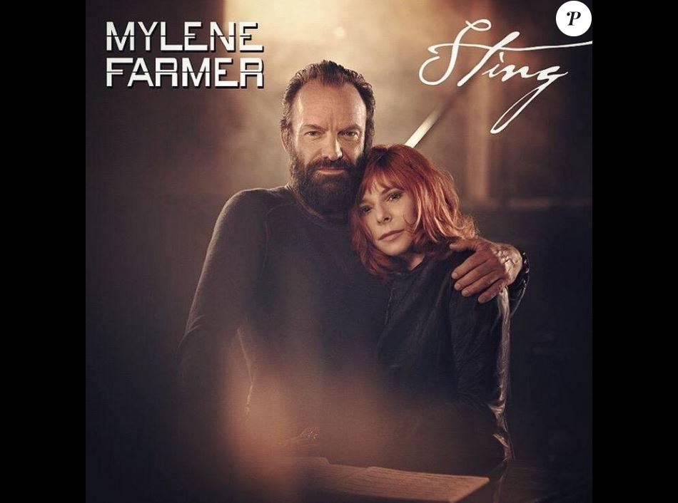 Pochette de disque entre Mylène Farmer et Sting