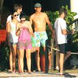 Rafael Nadal et sa petite amie Xisca Perello en vacances avec un groupe d'amis sur l'île de Cozumel au Mexique du 27 février au 2 mars 2014.