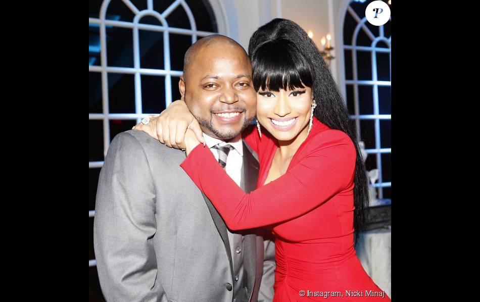 Nicki Minaj et le jeune marié, son grand frère Jelani Maraj. Baldwin (comté de Nassau, État de New York), le 22 août 2015.