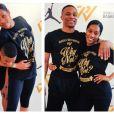 Russell Westbrook (Oklahoma City Thunder) et sa compagne Nina Earl, fiancés depuis septembre 2014, doivent se marier le 29 août 2015 à Beverly Hills, Los Angeles. Photo Instagram Nina Earl.