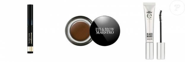 Super Liner Smokissime, L'Oréal Paris, 14,90 euros Eye & Brow Maestro, Giorgio Armani, 34,50 euros Mascara Black Magix, Eyeko, 21,50 euros
