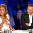 Léa Salamé et Yann Moix dans  On n'est pas couché  sur France 2, le samedi 29 août 2015.