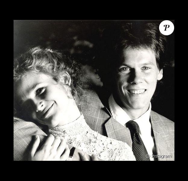 Kevin Bacon et sa femme Kyra Sedgwick le jour de leur mariage / photo postée sur le compte Instagram de l'acteur américain.