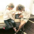 Hermes et Helena les deux enfants de Kelly Rutherford / photo postée sur le compte Instagram de l'actrice.