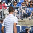 Shy'm assiste au match de Benoît Paire en huitième de finale de l'US Open, à l'USTA Billie Jean King National Tennis Center de Flushing dans le Queens à New York, le 6 septembre 2015