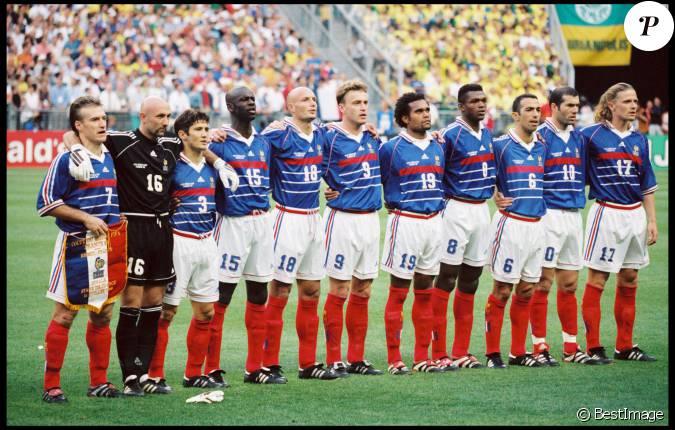L 39 quipe de france lors de la finale de la coupe du monde 1998 au stade de france - Coupe de france l equipe ...
