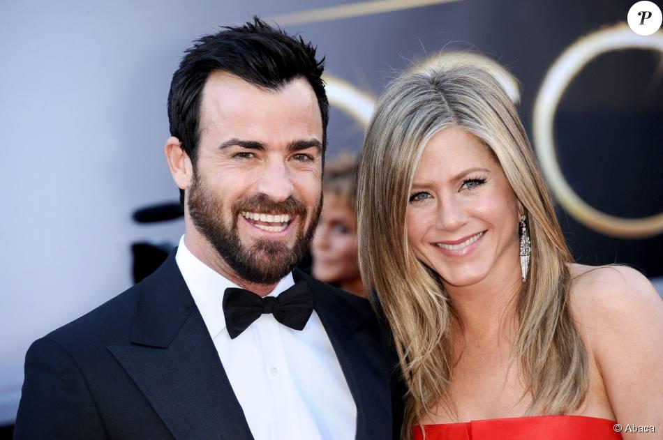 Justin Theroux et Jennifer Aniston aux Oscars 2013.