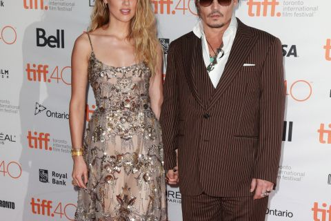 Amber Heard resplendissante avec son époux Johnny Depp à Toronto