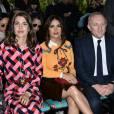 Charlotte Casiraghi, François-Henri Pinault et sa femme Salma Hayek - People au défilé Gucci pendant la fashion week de Milan le 23 septembre 2015.