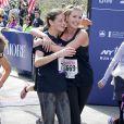 Exclusif - Ivanka Trump lors du semi-marathon de New York, supportée par ses deux enfants et son mari Jared Kushner. Le 19 avril 2015