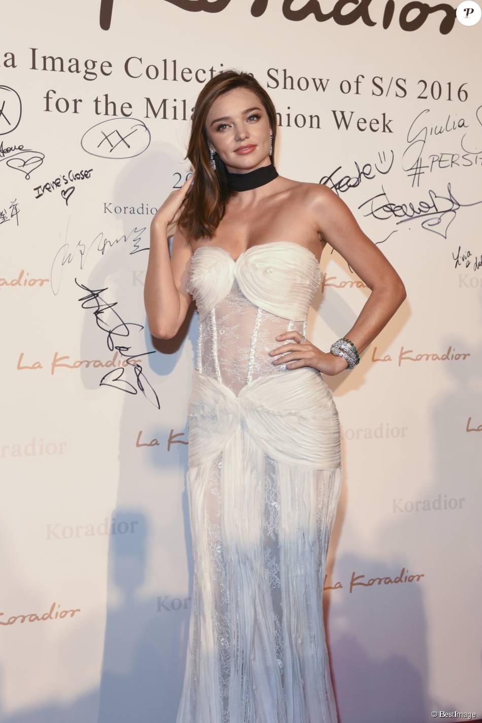 Miranda Kerr - Miranda Kerr au défilé de mode La Koriador printemps-été 2016 à Milan le 24 septembre 2015