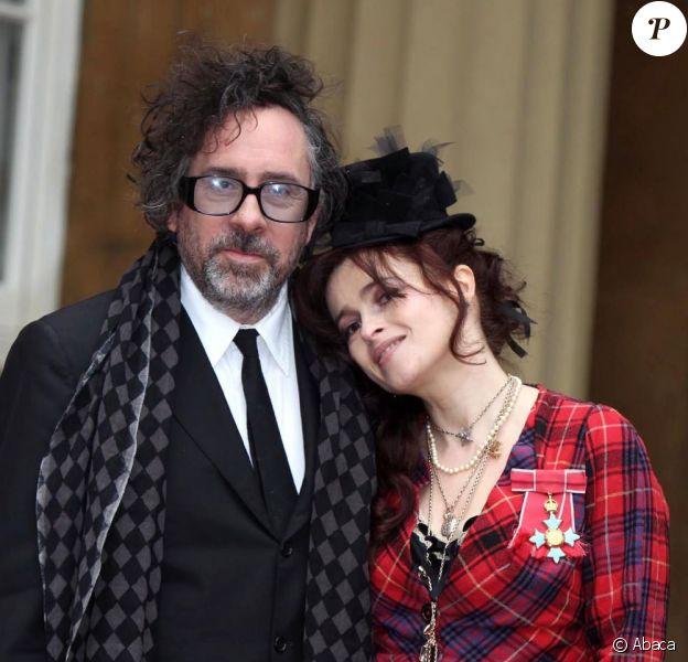 Helena Bonham Carter et Tim Burton à Londres à Buckingham Palace le 22 février 2012