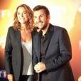 Laurent Ournac et Sandrine Quétier à la conférence de presse de  Danse avec les stars  TF1. Le 7 octobre 2015.