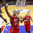 Thabo Sefolosha des Hawks d'Atlanta lors d'une rencontre NBA face aux Philadelphia 76ers au Wells Fargo Center de Philadelphie, le 13 janvier 2015