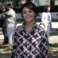 Saïda Jawad lors de la Journée mondiale des oubliés des vacances de l'association du Secours populaire sur le Champ-de-Mars à Paris, le 19 août 2015.