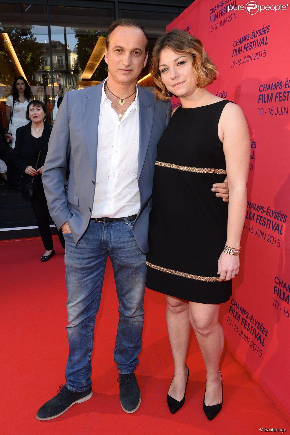 Michel Ferracci et sa femme Emilie Dequenne (habillée en Paule Ka et en bijoux Van Cleef & Arpels) - Soirée de clôture du 4e Champs Elysées Film Festival à Paris le 16 juin 2015