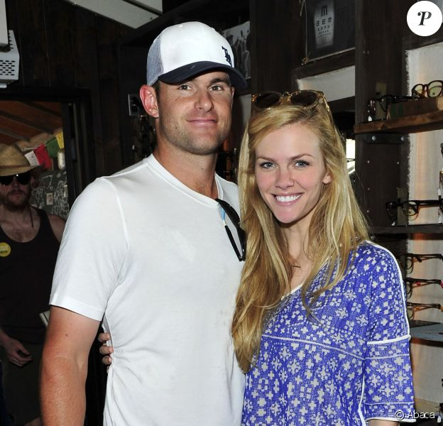 Brooklyn Decker et Andy Roddick à Los Angeles, le 29 avril 2014.