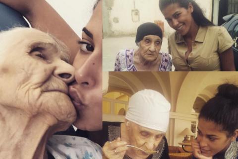 """Ayem Nour, en Tunisie pour sa grand-mère : """"Que Dieu te garde longtemps..."""""""