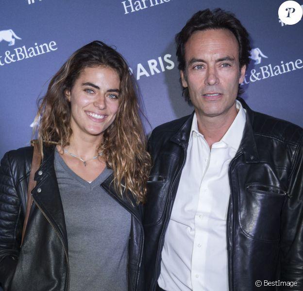 Exclusif - Anthony Delon et sa fille Alyson Le Borges - Inauguration de la boutique Harmont & Blaine à Paris, mardi 13 octobre 2015. La marque italienne Harmont & Blaine a inauguré sa première boutique française au 35 boulevard des Capucines..