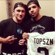 Johnny Manziel et Drake - photo publiée le 14 juin 2014