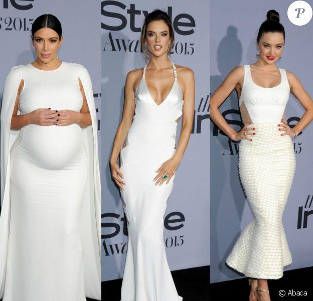 Kim Kardashian, Alessandra Ambrosio et Miranda Kerr étaient les stars de la première édition des InStyle Awards, au Getty Center. Los Angeles, le 26 octobre 2015.