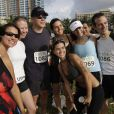 Matt Damon au départ de The Escape to Miami Triathlon