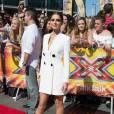 """Cheryl Fernandez-Versini (Cheryl Cole) - Les membres du jury de l'émission """"X-factor"""" à leur arrivée aux auditions à Londres. Le 19 juillet 2015"""