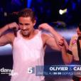 Olivier Dion et Candice, dans  Danse avec les stars  saison 6, le vendredi 6 novembre 2015.