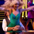 Thierry Samitier et Emmanuelle, dans  Danse avec les stars  saison 6, le vendredi 6 novembre 2015.
